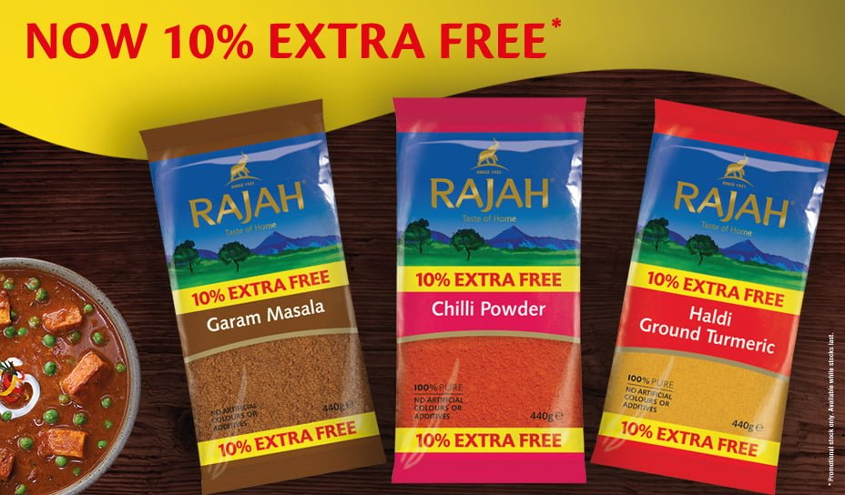 Rajah 10% Free Promotion Now On!
