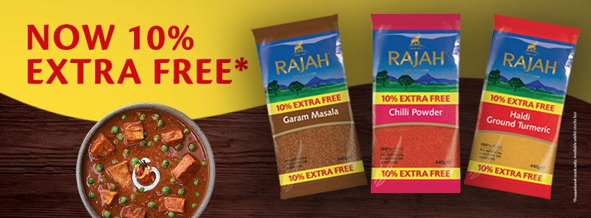 RAJAH 10% EXTRA FREE PROMOTION NOW ON